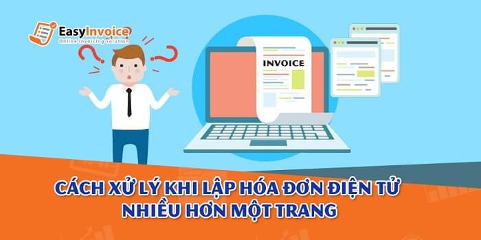 Xử lý hóa đơn điện tử lập nhiều hơn một trang