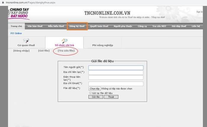 đăng ký mã số thuế cá nhân tncnonline.com.vn
