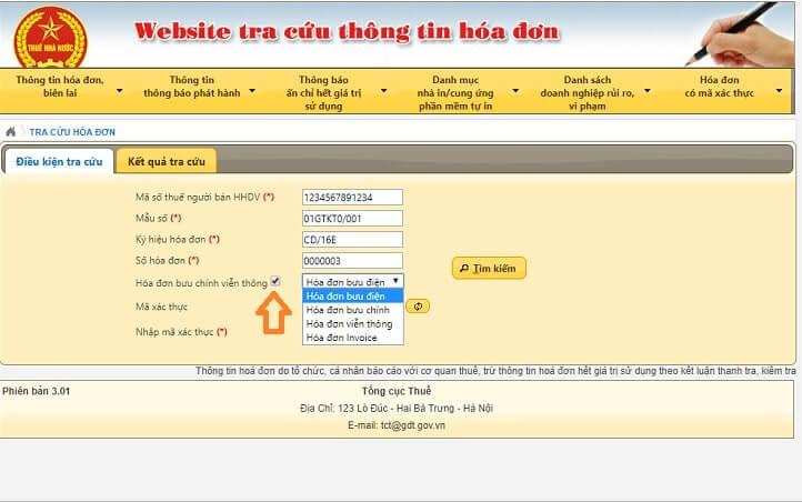 thông tin tra cứu hóa đơn điện tử