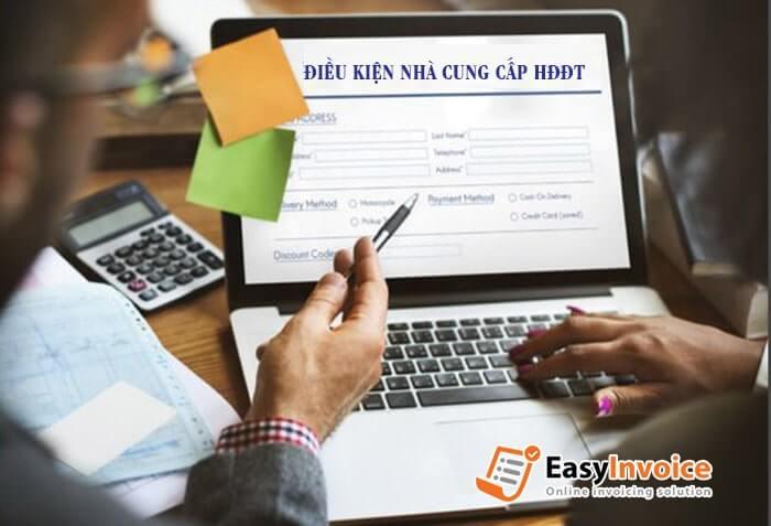 Điều kiện của nhà cung cấp giải pháp hóa đơn điện tử