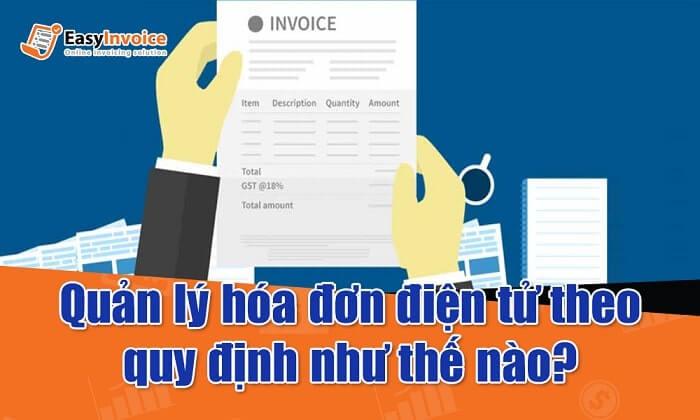 quản lý hóa đơn điện tử
