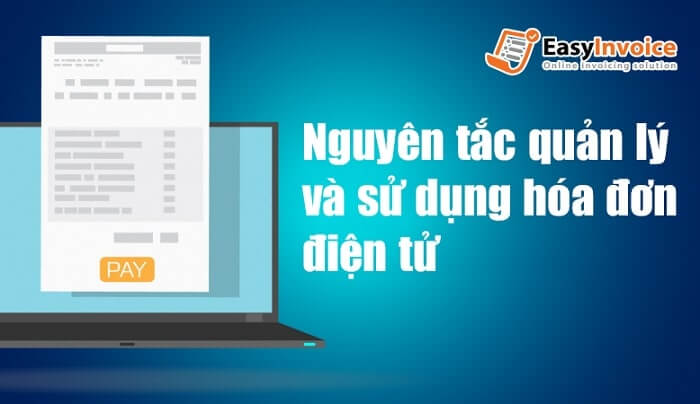 quản lý và sử dụng hóa đơn điện tử