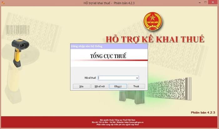 Giao diện phần mềm HTKK