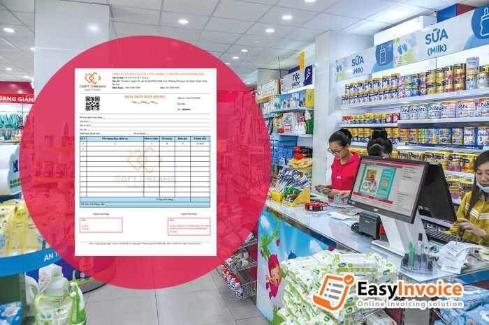 hóa đơn tại siêu thị, trung tâm thương mại