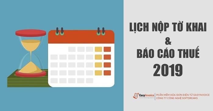 lich nop to khai bao cao thue 2019
