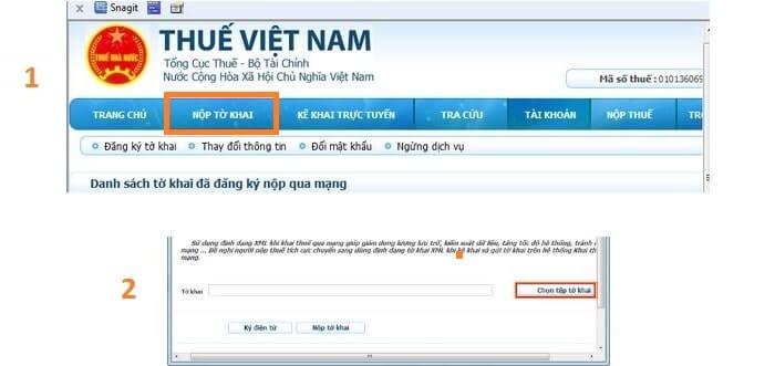 Nộp tờ khai tại nhantokhai.gdt.gov.vn