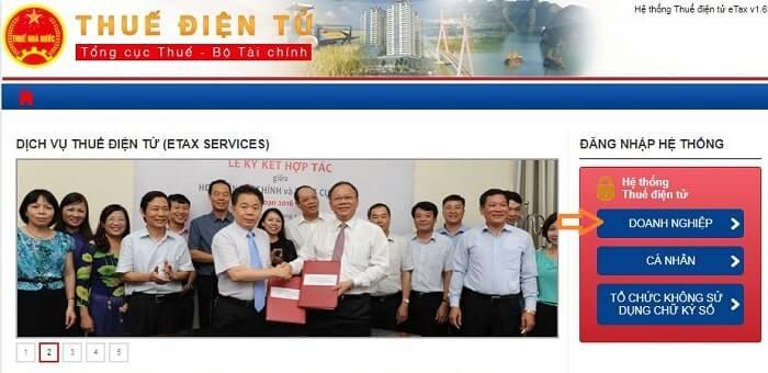 Truy cập website thuedientu.gdt.gov.vn