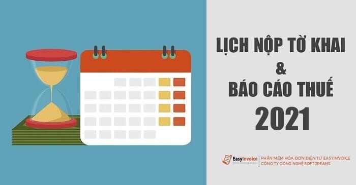 lich nop to khai thue 2021