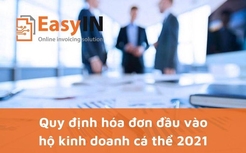 hóa đơn đầu vào của hộ kinh doanh cá thể